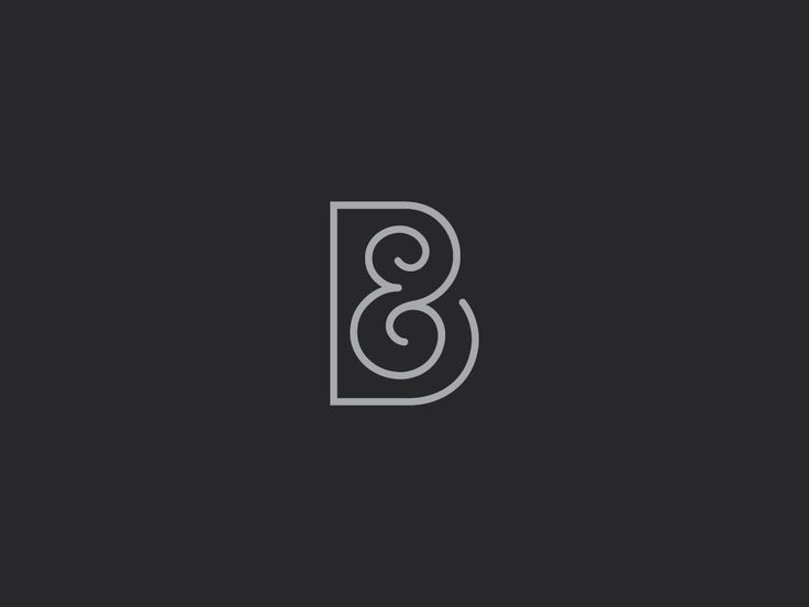 Ben & Becka Online Shop. Brand mark. Line Logo. Designed by White is Black.