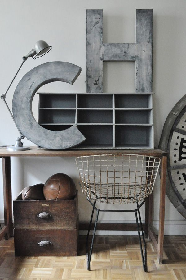 stylish patina, rough luxe market, industrial chic, virginia, vintage furniture, www.stylishpatina.com/roughluxe  vignette design: Industrial Chic Interior design