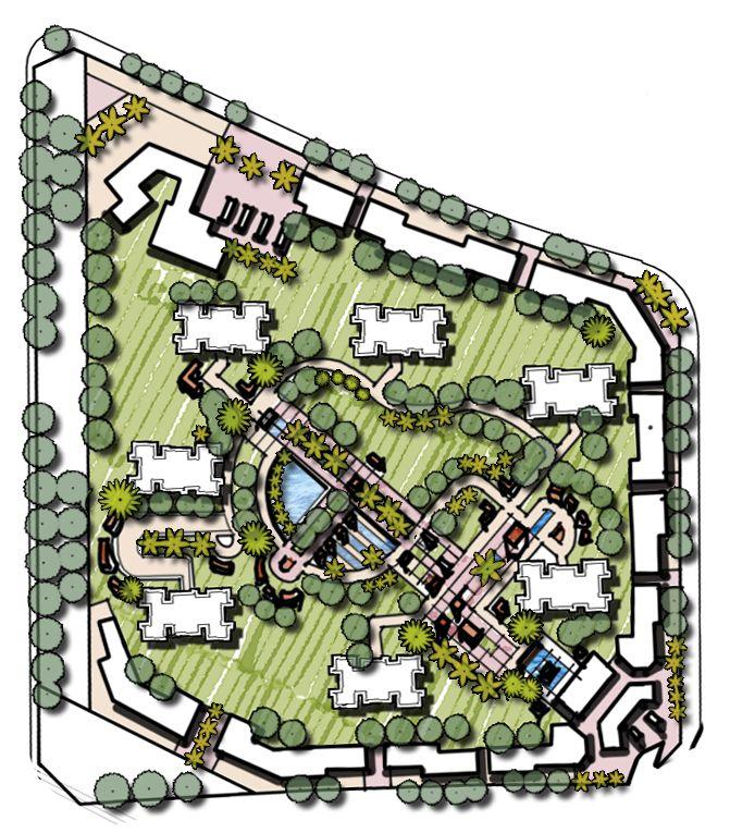Freehand Master Plan Mountain Villas Hill Landscape Mountain Villa Valley Landscape Valley Stream Private Villas Hig Peyzaj Kentsel Tasarim Plani Mimari