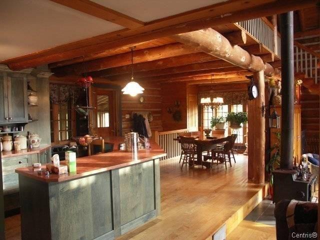 Log Cabin Kitchen Dream Home Pinterest