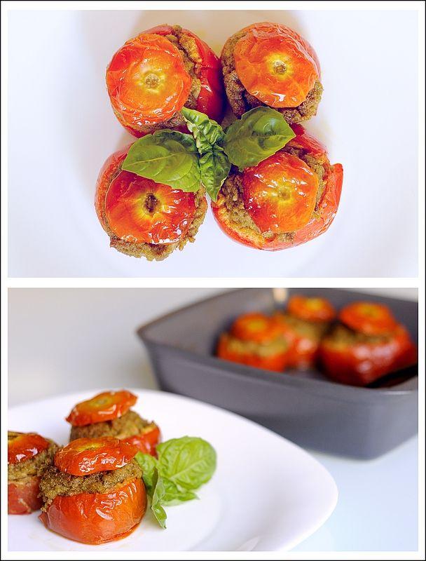 Pomodori Ripieni alla Pugliese - versione veg senza avviughe