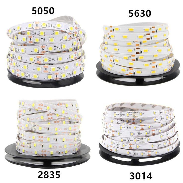 DC 12V RGB LED Strip 5M 300LED 5050 5630 2835 3014 Not Waterproof Fita LED Light Flexible Neon Lamp Tira LED 12V Tape Christmas