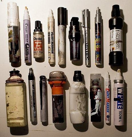 markers / graffiti