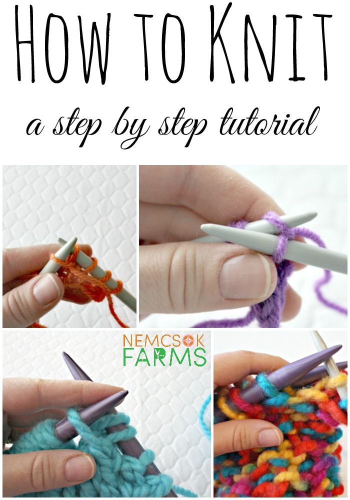 How to Knit. A step by step tutorial on the basic stitches of knitting.