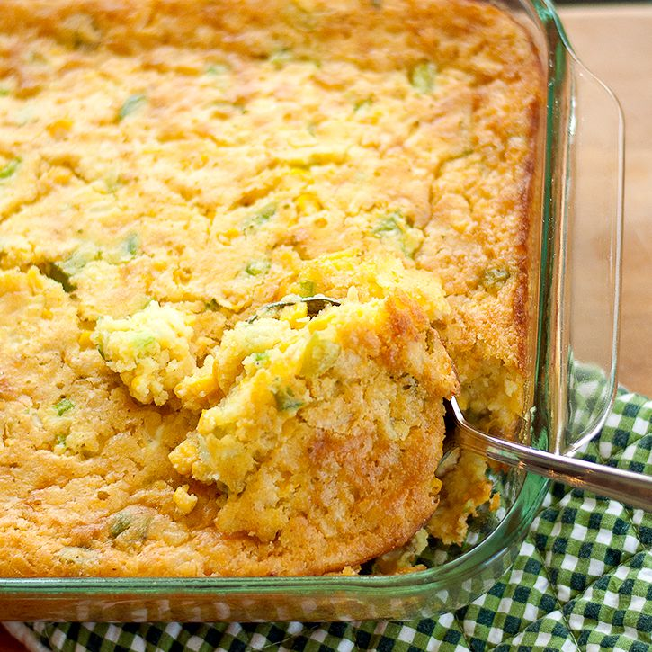 corn casserole   I always swirl some sour cream and chunks of cheddar throughout before baking. I've been making this for years. Good!