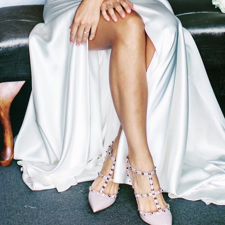 My beautiful Valentino shoes and Johanna Johnson gown