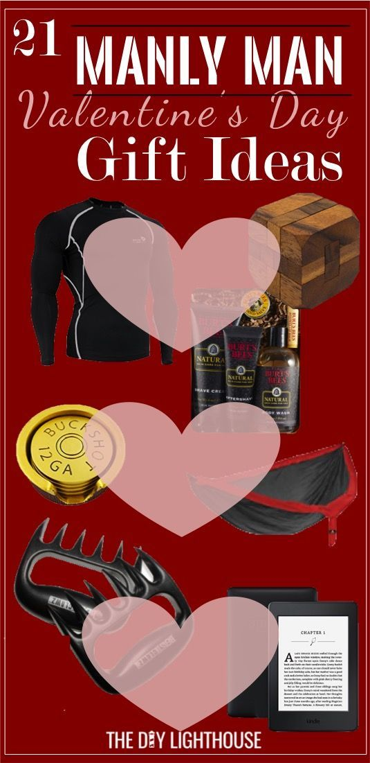 Need some ideas for a Valentines gift for him? Here's a bunch of gifts sure to please your manly man!