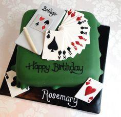 bridge game cake - Google Search