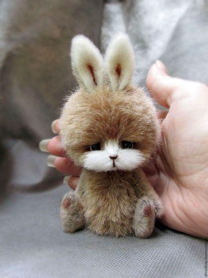 Teddy bunny toy / Мишки Тедди ручной работы. Ярмарка Мастеров - ручная работа. Купить Зайка. Handmade. Комбинированный, зайчик тедди, проволока