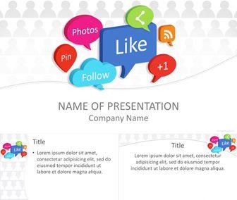 Social Media Bubbles PowerPoint Template