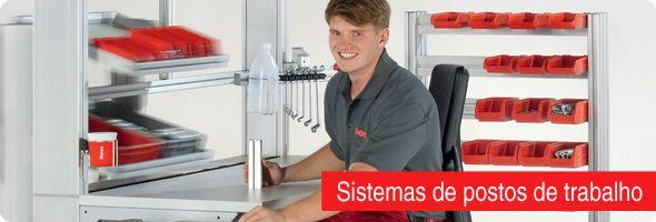 Configuração perfeita do posto de trabalho para postos de trabalho manuais na indústria e em escritórios – com o sistema de postos de trabalho da item, todas as tarefas na produção manual podem ser resolvidas de forma ideal.