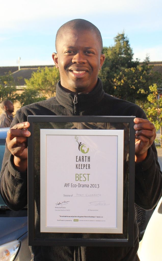 The (Christian) Anglican Diocese of Port Elizabeth, South Africa, won the SAFCEI/AYF Eco-Drama award for their performance joining dots between faith & earth , June 2013