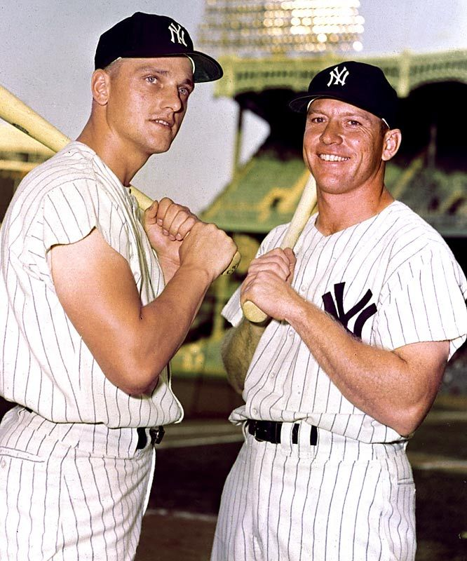 Roger Maris and Mickey Mantle. The M&M Boys were teammates on the New York Yankees from 1960-1966.
