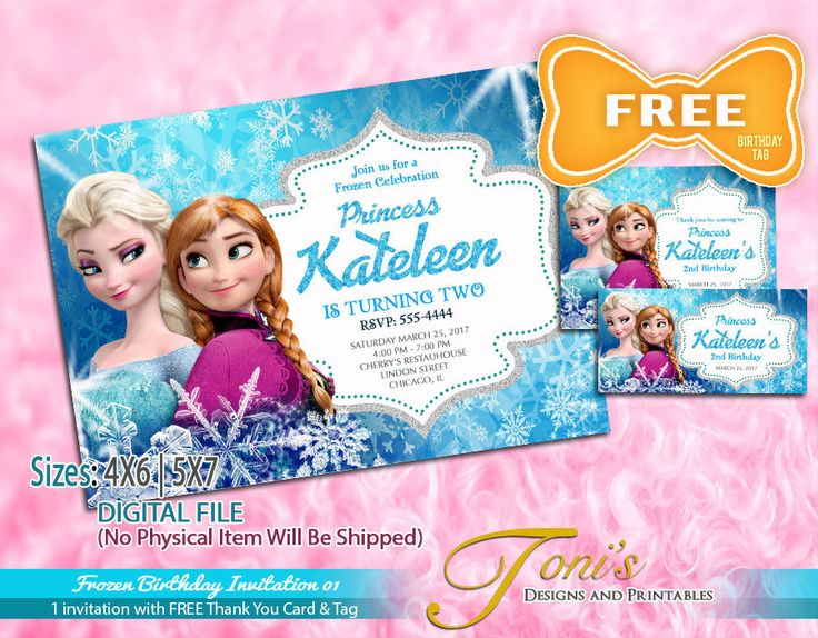 Unique Free Frozen Invitations Ideas On Pinterest Frozen - Birthday invitation frozen theme