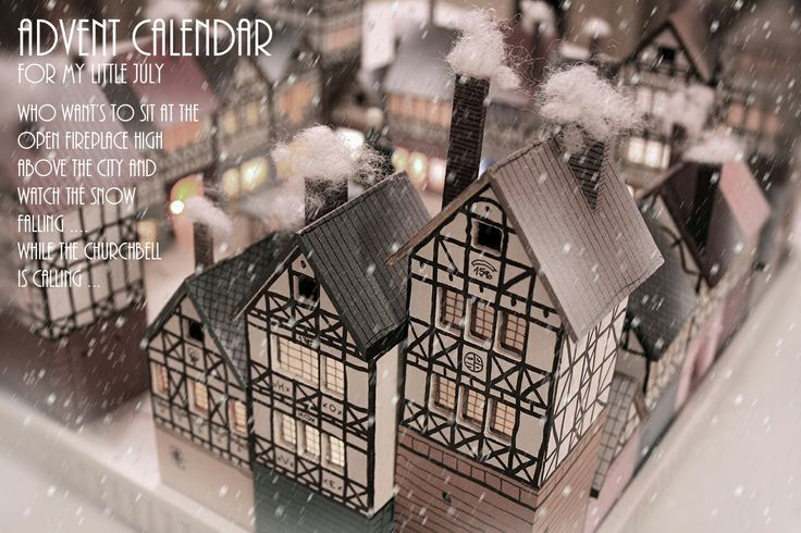 Who want's to sit at the open fireplace high  above the city and  watch the snow  falling .... While the bell is calling ...