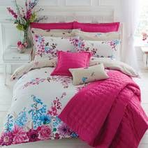 Pink Flora Fauna Bed Linen Collection