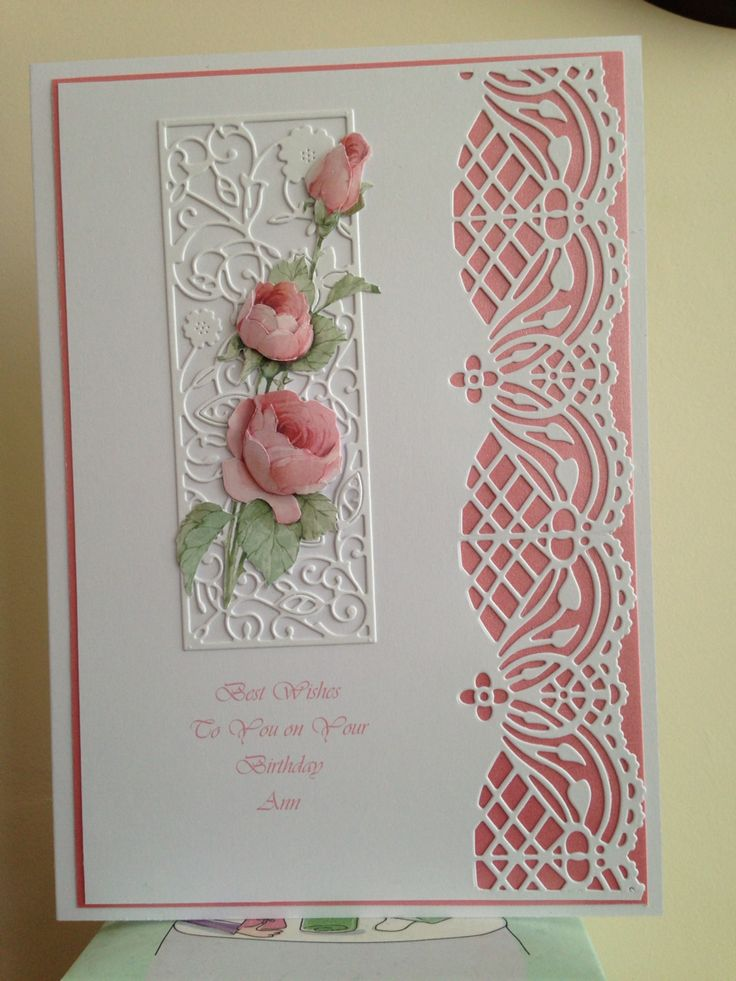 Joanna sheen edge die - pretty idea, I often struggle with ideas for edged cards.