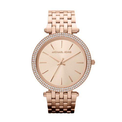 Michael Kors Parker Glitz Rose Gold Dial Pavé Bezel Ladies Watch MK3192