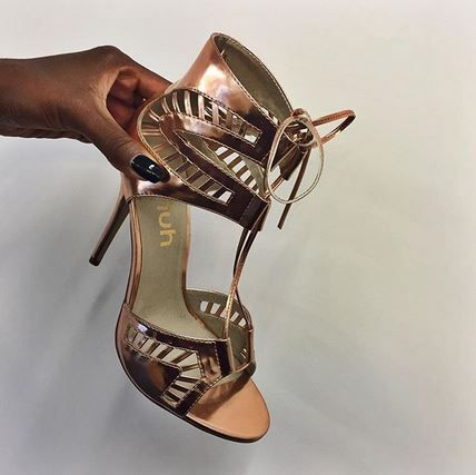 Arriving soon... schuh Rendevous high heels in rose gold.