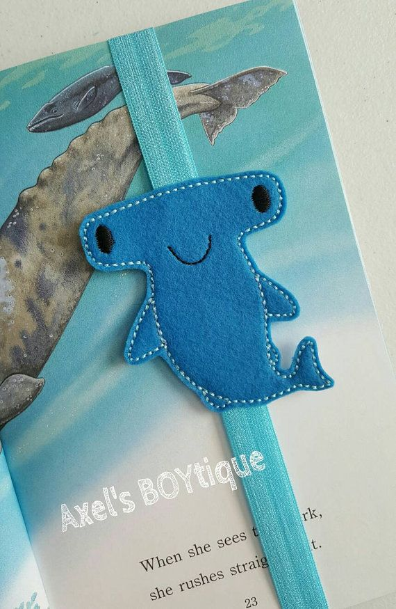 Check out this item in my Etsy shop https://www.etsy.com/listing/275016558/bookmark-hammerhead-shark-elastic