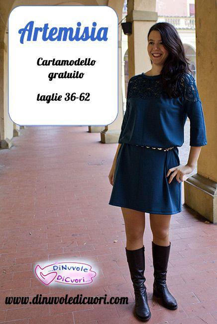 Artemisia, vestito/blusa nelle taglie 36-62 è disponibile come cartamodello PDF gratuitamente sul blog! scaricatelo e divertitevi a cucirlo!!!
