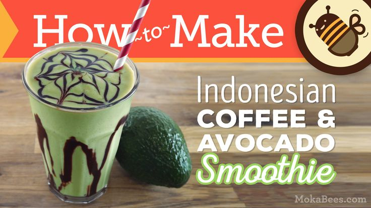 ★PRINT THE RECIPE FOR INDONESIAN COFFEE AVOCADO SMOOTHIES★ http://www.mokabees.com/?p=763 Es Alpukat (meaning 'ice avocado') is sold by street vendors across...