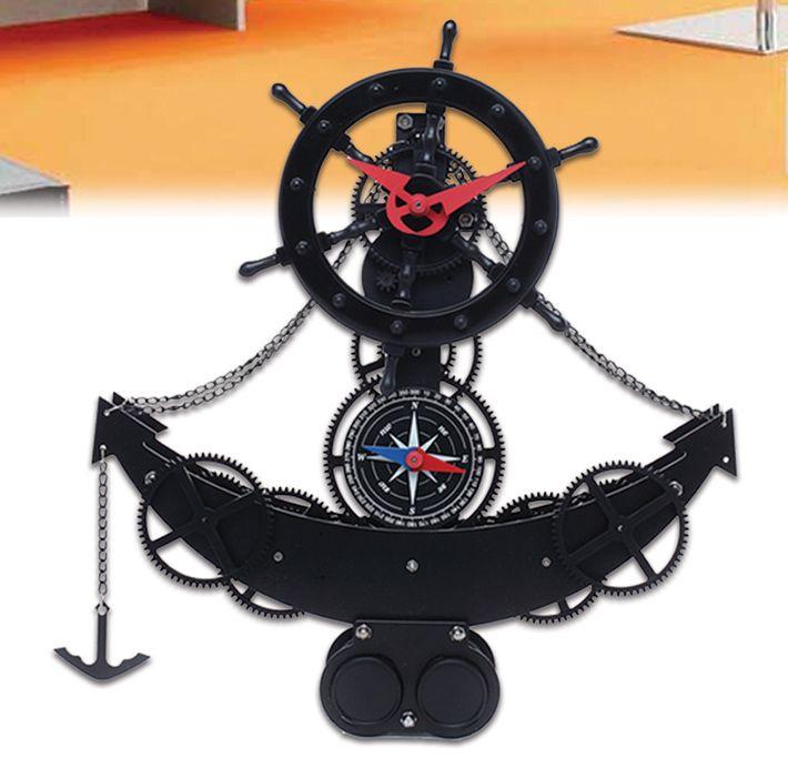 Çapa Özel Masa Saati Modeli  Ürün Bilgisi ;  Plastik ve metal parçalardan tasarlanmıştır. Ebatı : 30.8 cm x 8 cm x 34.1 cm Saat çalışınca çarklar dönmeye başlar Sessiz çalışır 2 pil ile çalışır Zaman geçtikçe yaprak atar Çok özel bir masa saatidir.