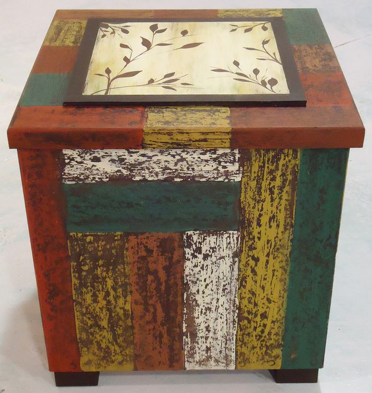 117 best cajas de madera pintadas images on pinterest - Decapado sobre madera ...