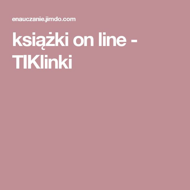 książki on line - TIKlinki