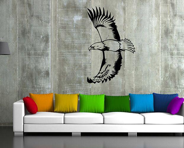 kik50 Wall Decal Sticker eagle bird predator living room bedroom