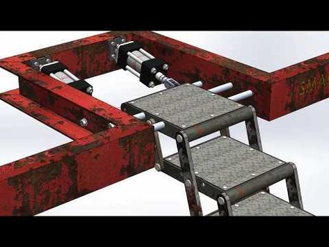 Best Foldable Stair Mechanism Youtube Garage Decor Stairs 400 x 300