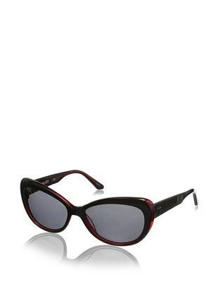Thierry Mugler Women's TR2004 Sunglasses, Black/Red