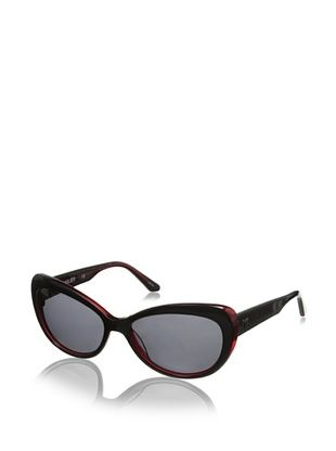 Thierry Mugler Women's TR2004 Sunglasses, Black/Red
