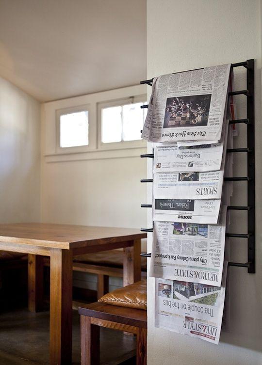 Newspaper Rack Interior Design And Style In 2019 Kinfolk Magazine Magazine Storage