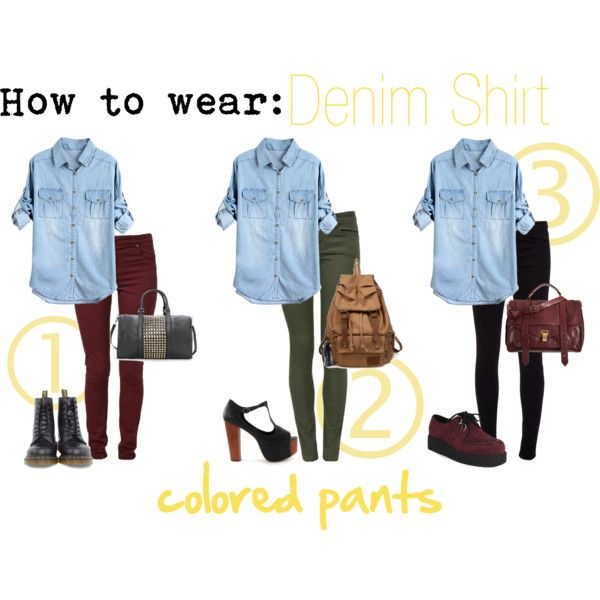 How to wear Denim shirt | Denim shirt Fall winter and Clothes