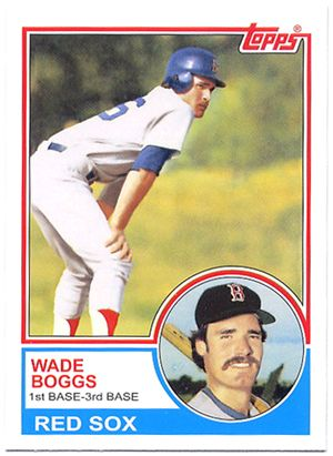 wade boggs rookie card   ... wade boggs rookie card in 1983 this was the hottest rookie card around