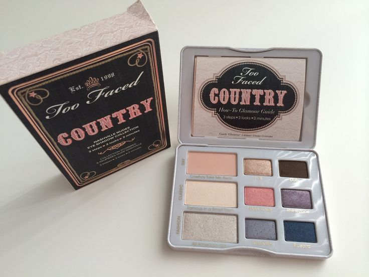 Too Faced Country Nashville Nudes Eye Shadow Collection Palette Grab yourself a mason jar of sweet tea and fall hard for Music City glamour, where the Southern capital's charm is captured in nine Nash