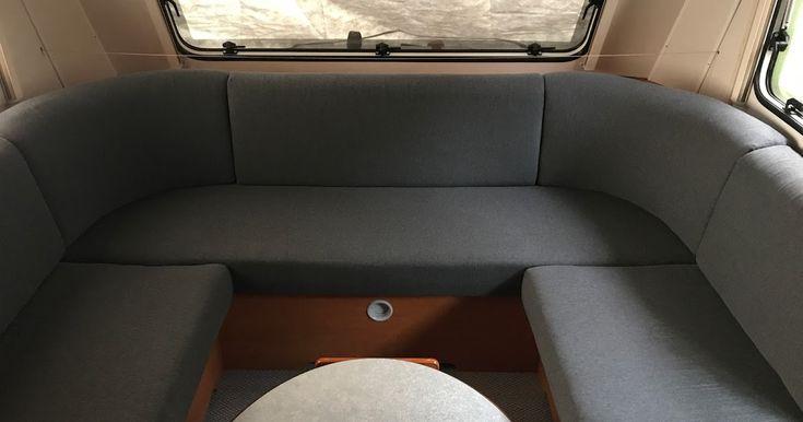 Wohnwagen Sitzpolster mit Bündchenstoff neu beziehen. #LMC