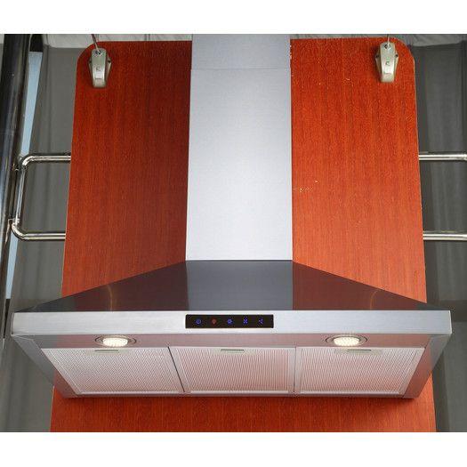 "Kitchen Bath Collection 30"" 412 CFM Wall Mount Range Hood"