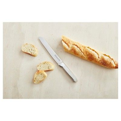 KitchenAid Classic Forged 8 Brushed Stainless Scalloped Bread Knife - KKFSS8BR, Silver