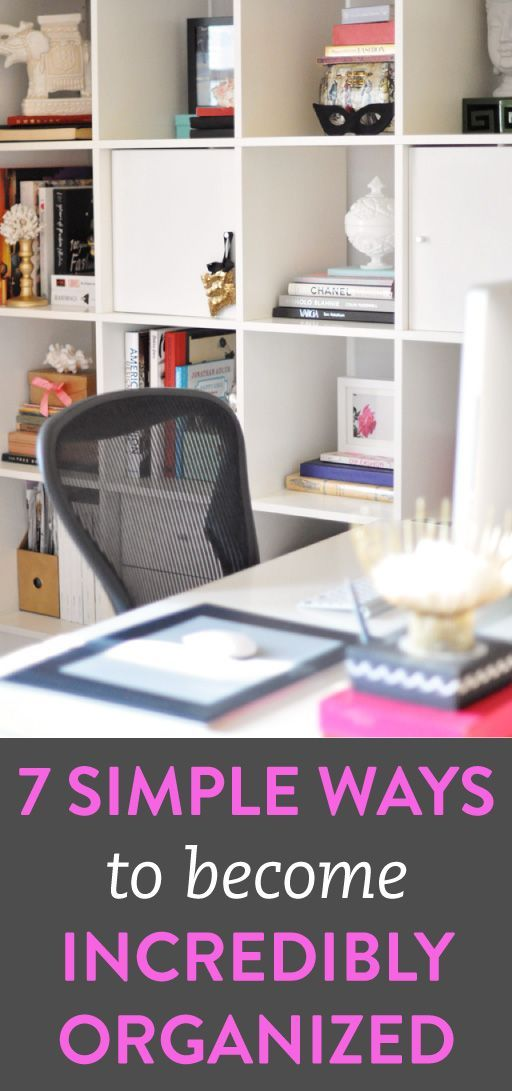 7 simple organization tips