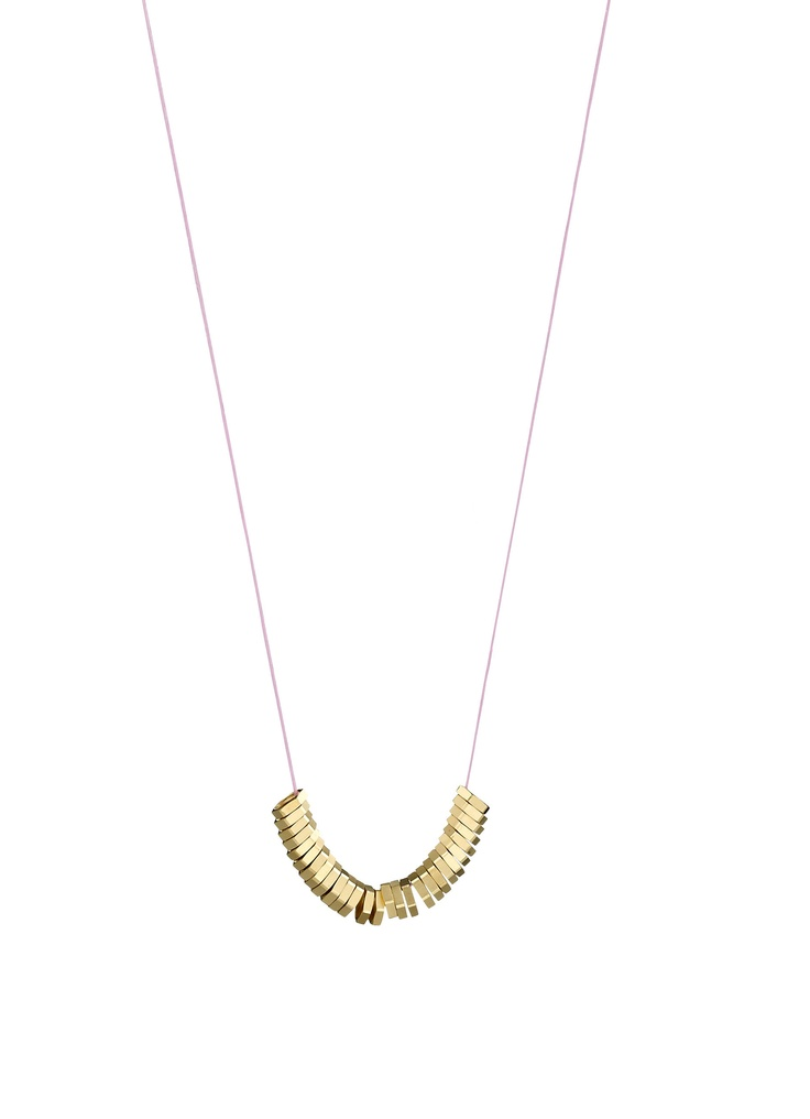 GO NUTS IN GOLDEN NUTS necklace. By HUNN/Karina Hunnerup