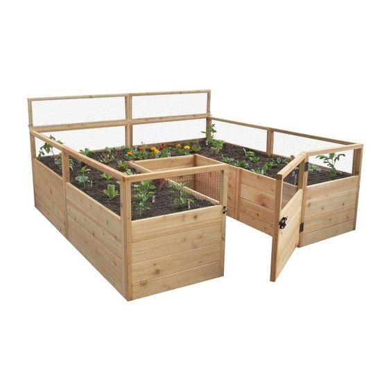 Natural Cedar Raised Garden Beds: 342 Best Images About Small Garden Ideas On Pinterest