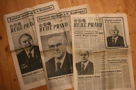 jo, jo, rychlá sada, Nejdřív umřel Brežněv, pak Andropov, pak Černěnko a v televizi místo dívánek byly jen smuteční kecy....