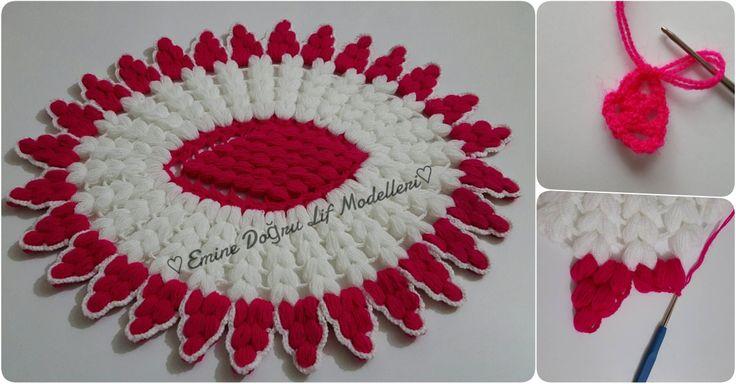 Tepsi lif örneği yapılışı #lif #knitting #ceyiz #örgü #elisi #hobi