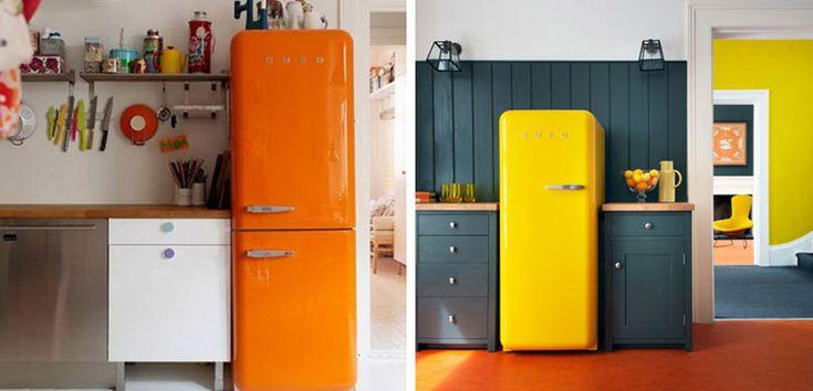 Cocinas decoradas con los frigoríficos SMEG - http://www.decoora.com/cocinas-decoradas-con-los-frigorificos-smeg.html