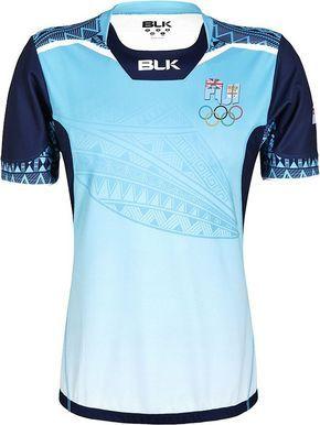 7bc958fe5e A fabricante de material esportivo BLK divulgou os uniformes de rugby que a  seleção de Fiji utilizará nos Jogos Olímpicos do Rio de Janeir.