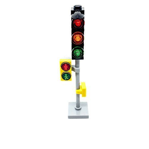 LEGO Traffic Light with Pedestrian Sign For City Town Road Street Modular by LEGO ** You can find out more details at the link of the image.