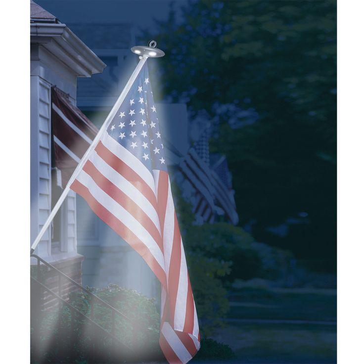Solar Residential Flagpole Light - from Sportys Preferred Living