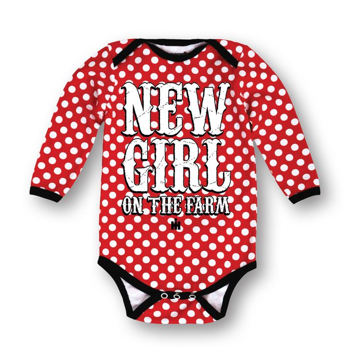 New Girl On The Farm - Case IH - Long-Sleeve - Bodysuit